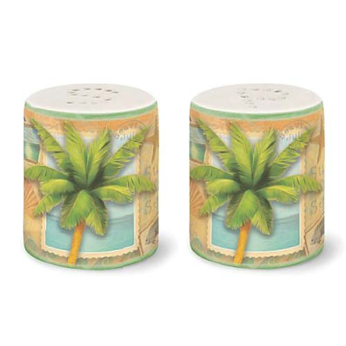 "Palm Tree ""Sun and Sea"" Salt & Pepper Shakers - 822-55"