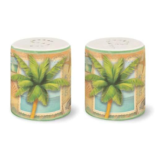 "Palm Tree ""Sun and Sea"" Salt & Pepper Shakers - 822-55"