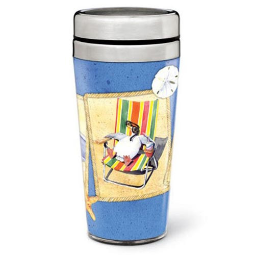Resting Beach Chair Thermal Travel Mug 826-24