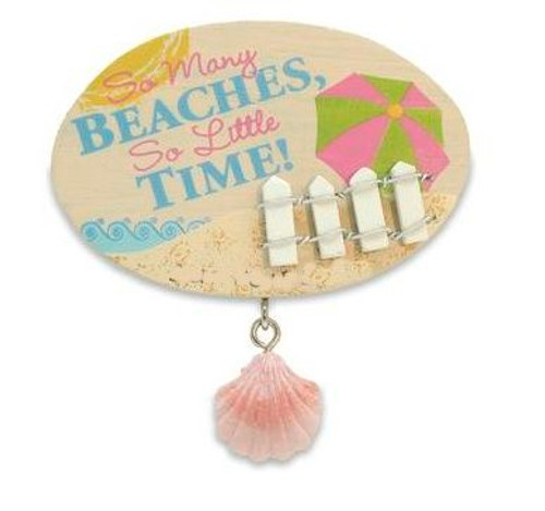 "Beach Theme Magnet ""So Many Beaches"" - 828-47"