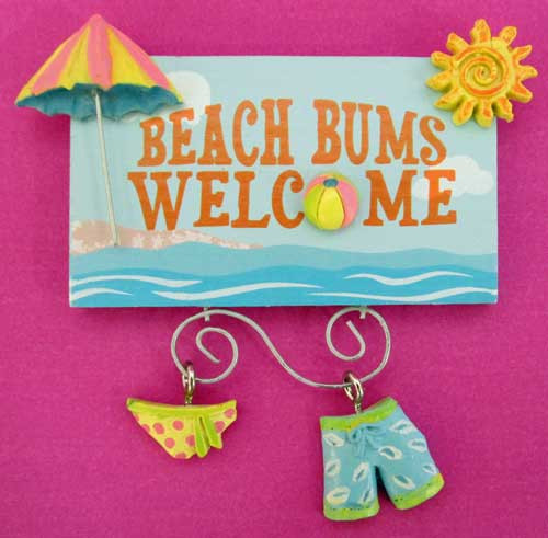 Beach Bums Welcome Magnet Bathing Suits 828-53