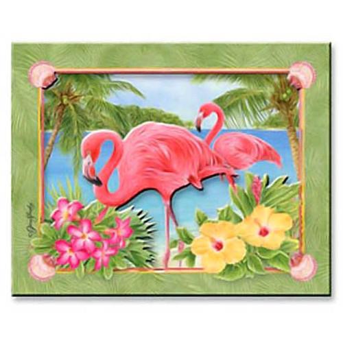 Pink Flamingo Paradise Magnet 828-70