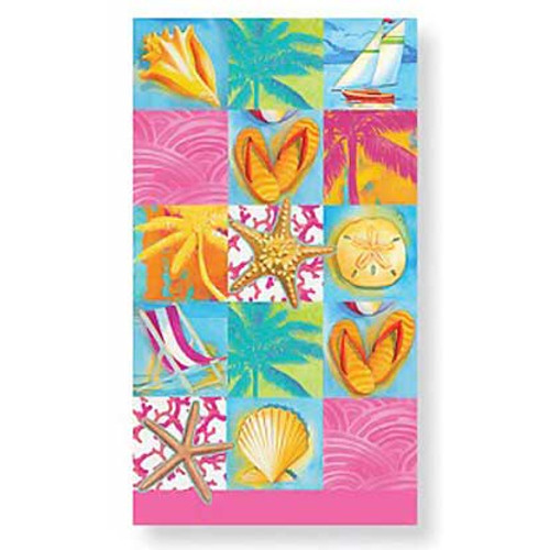 Umbrella Beach Patchwork Paper Guest Towels 30 Pack 848-71