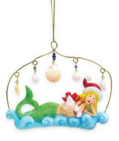Mermaid with Sea Shells Ornament - 865-23