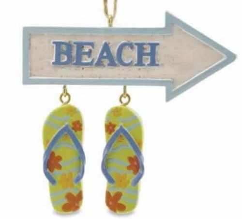 Flip Flops and Beach Theme Christmas Ornament - 866-35