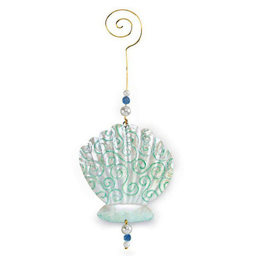 Sea Shell Christmas Metal Ornament 867-36