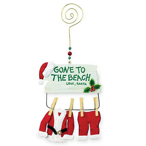"Beach Theme Christmas Ornament ""Gone to Beach"" - 867-49"