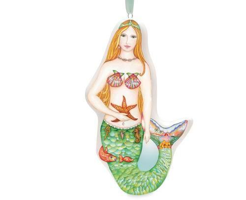 Coastal Daydream Mermaid Ceramic Ornament - 868-38