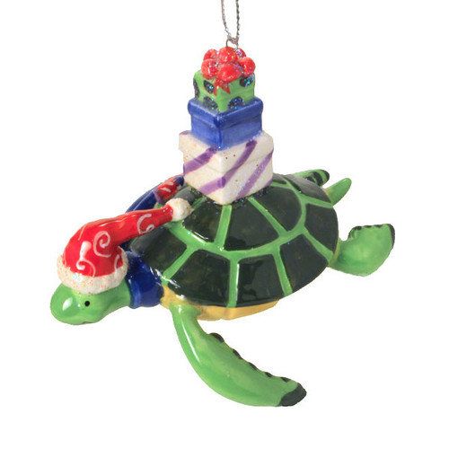 Sea Turtle Ceramic Christmas Ornament 869-41
