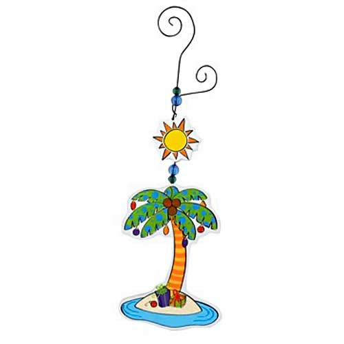 Wood Christmas Ornament Palm Tree 869-72