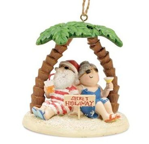 Santa's Secret Hideaway Christmas Ornament - 870-89