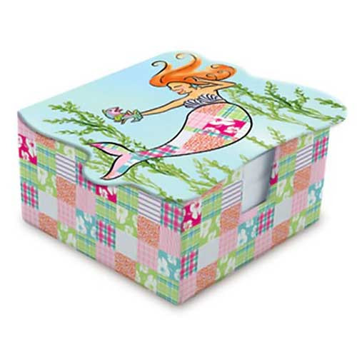 Mermaid Theme Decorated Notes in Tray 92-046