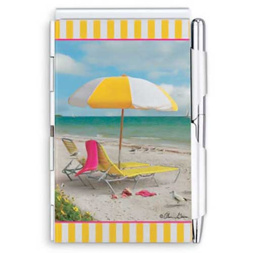 Beach Scene Pocket Purse Pad & Pen 92-222