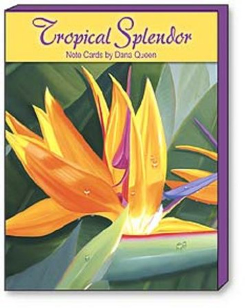 Tropical Flowers Note Cards 12 Assorted - ASN34622