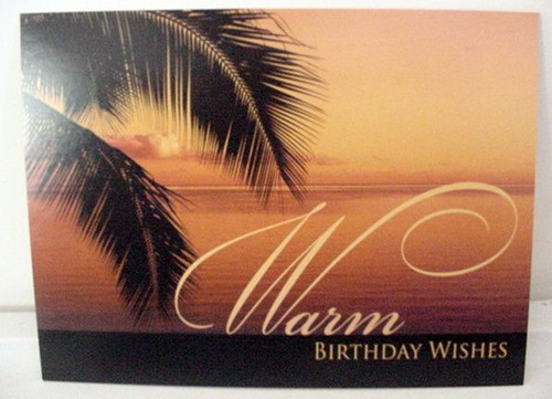 "Beach Birthday Card ""Warm Birthday Wishes"" - BDG13182"