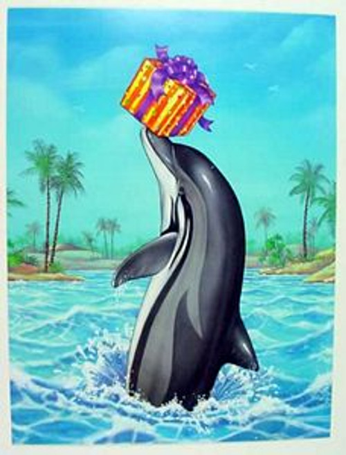 "Dolphin Birthday Card ""Balancing Act"" - BDG43688"