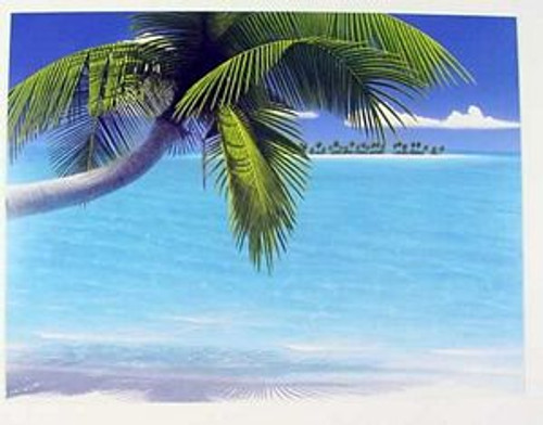 "Tropical Island Birthday Card ""Palms on Parade"" - BDG43700"