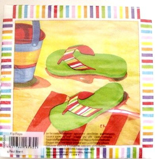 Flip Flops Paper Luncheon Napkins Pk of 20 - 006910