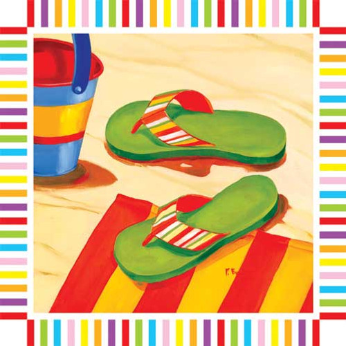 Flip Flops Paper Cocktail Napkins Pk of 20 - 006911