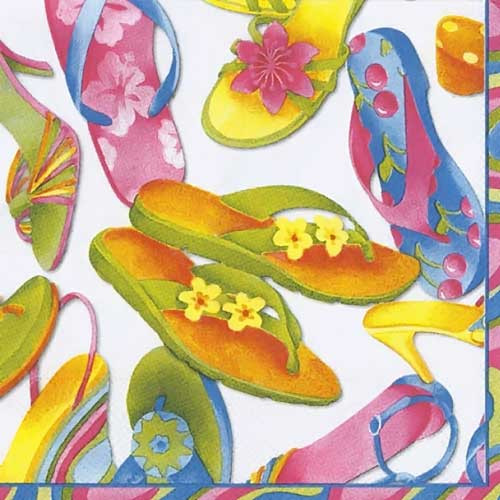 Paper Cocktail Napkins Flip Flops C403790