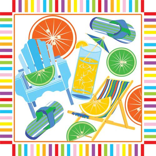Chill Out Beach Paper Cocktail Napkins Pk of 20 - 006917