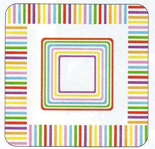 Beach Stripes Paper Plates 7 inch Pk of 8 - PPPP87184
