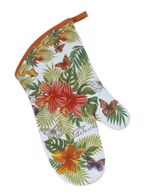 Tropical Hibiscus Flower Oven Mitt  -  R2515