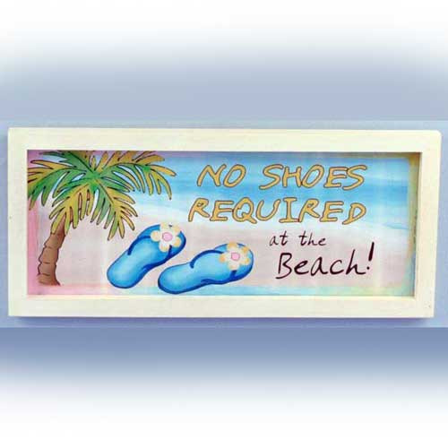 Tin Sign No Shoes Required Wall Plaque 10139