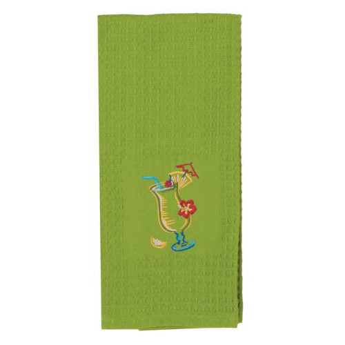 Pina Colada Embroidered Waffle Towel R2834