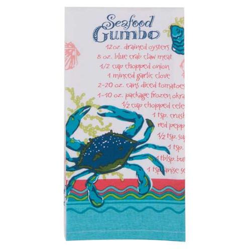 Seafood Gumbo Recipe Flour Sack Towel R2853