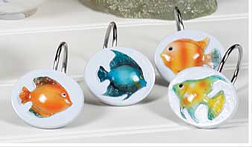 Rainbow Fish Bath Shower Hooks RBF83MULT