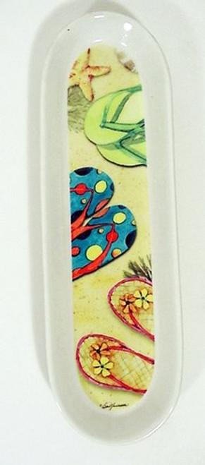 Flip Flops Ceramic Spoonrest - S229