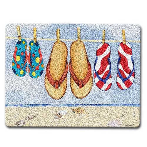 Flip Flops Glass Surface Saver Cutting Board Small  - SM_CUT-229
