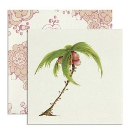 Palm Tree Theme Gift Enclosure Card w Envelope - CID4-10368