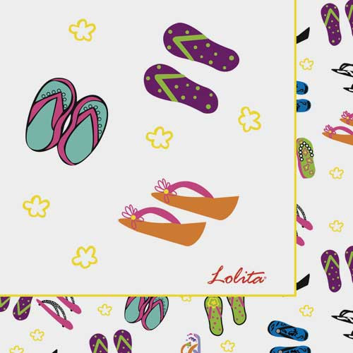 Flip Flop Paper Luncheon Napkins by Lolita - TW7-8179