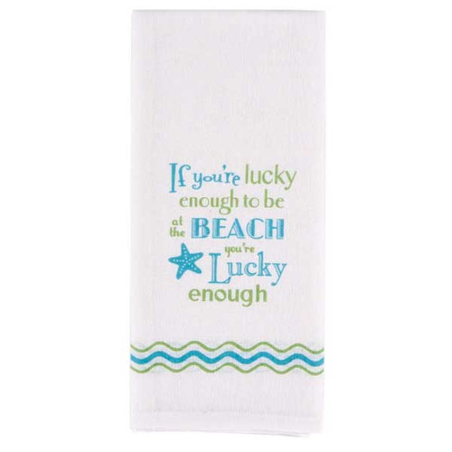 Lucky Enough Flour Sack Towel W4107