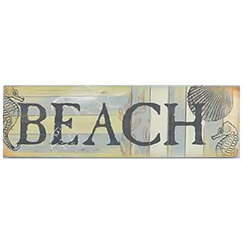 Wood Sign Beach Wall Plaque 10411