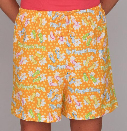 "Pajamas ""Flip Floppin' Away"" Drawstring Shorts - Ladies - SVR739WS"