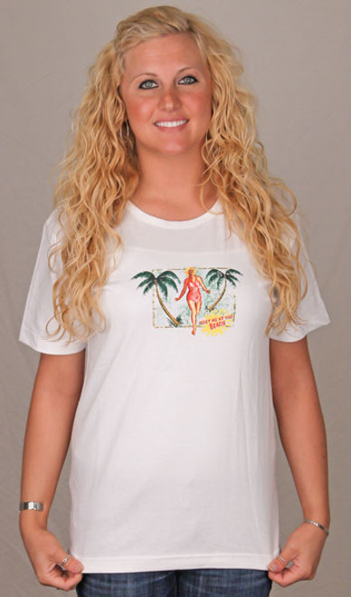 Meet Me at the Beach Scoop Tee Shirt – Ladies