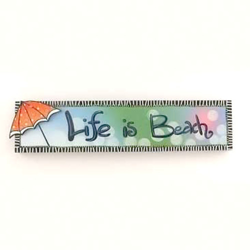 "24"" Life is Beach Wood Sign 10810"