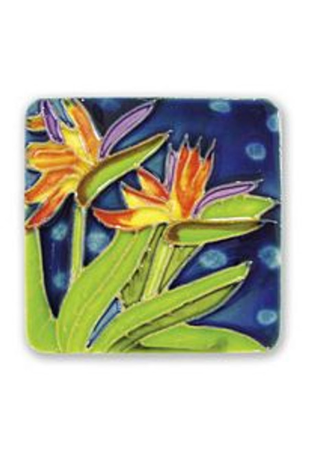 Bird of Paradise Ceramic Magnet - 11160