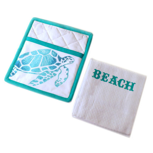 Beach Life Pot Holder & Towel Set 25960-Beach