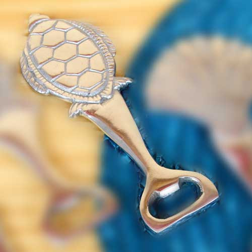 Sea Turtle Sea Life Theme Aluminum Bottle Opener 25349ST