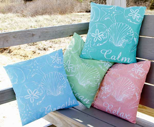 Sea Shell Theme Large Pillow 25564