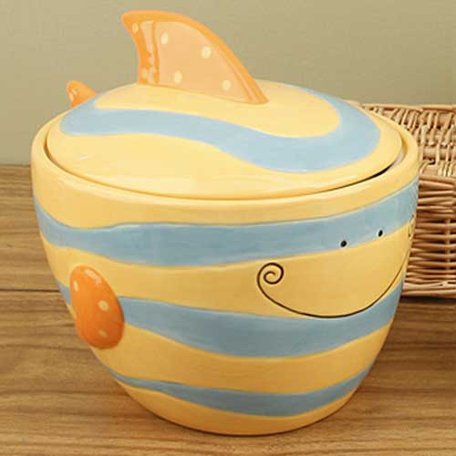 Ceramic Fish Goody Jar 12313
