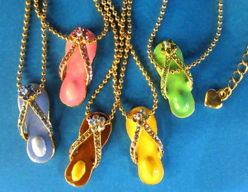 Flip Flop Goldtone Necklace FFPG