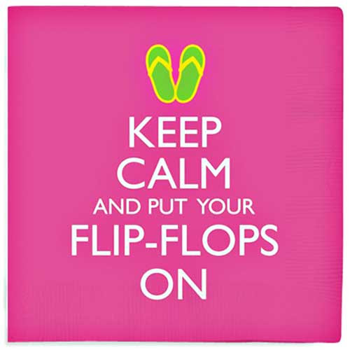 Keep Calm & Put Your Flip Flops On Napkins 15-190