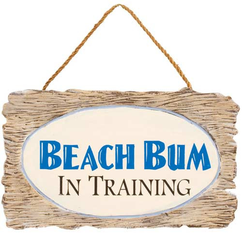 "Wooden Wall Art - ""Beach Bum in Training"" 32374A"