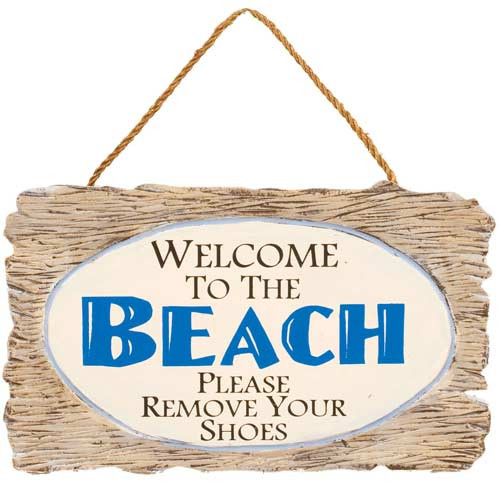 "Wooden Wall Art - ""Welcome to the Beach"" 32374C"
