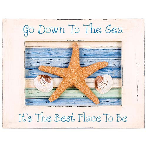 "Wall Decor Art ""Down to the Sea"" 33393"